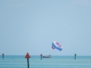 Parasailing in Hawk's Channel