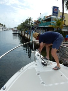 Installing new anchor