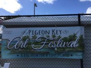 Pigeon Key Art Festival Sign