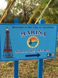 City Marina sign