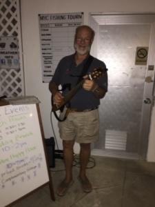 "Jeff (""Stowaway"") entertains"