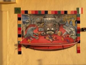 Mural on buildings