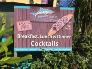 Sign at Sharkey's