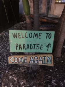 Sign outside of Sharkey's