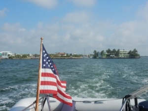 Leaving Port Largo entrance