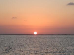 Sunset over Card Sound