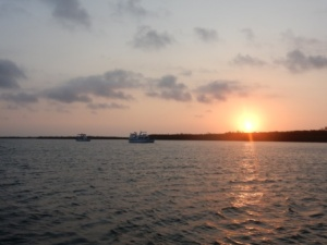 Sunrise over anchorage