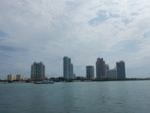 Miami Beach Skyline at port entrance