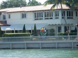 Sculpture at Miami Beach home