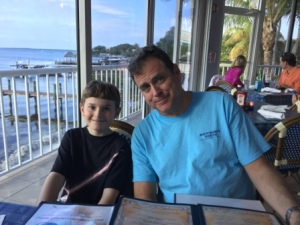 Daniel and Cousin Robert at Bayside Grille