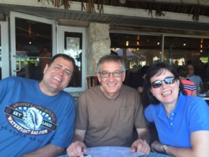 Robert, Ken & Elizabeth at Snapper's