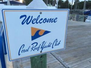 Sign on dock