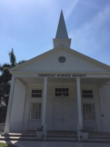 Christian Scientist church near marina