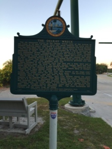 The Delray Wreck historical marker