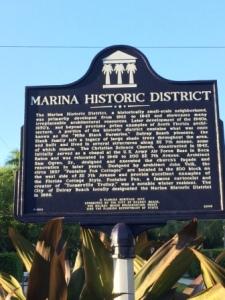 Marina Historic District marker