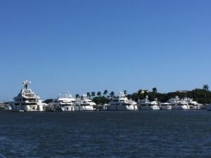 Yachts at Palm Beach Docks