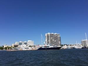 Megayachts at WPB public docks