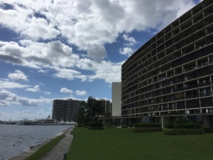Condo buildings at Old Port Marina