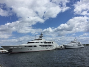 Mega Yachts in west docks