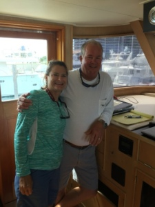 Denise & Capt. Barry on the Berger