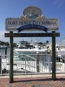 City marina sign