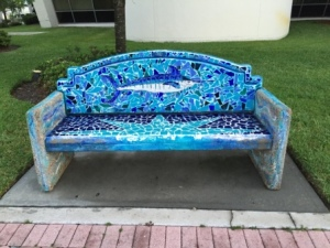 Park bench in Ft. Pierce