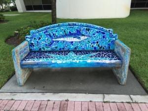 Park bench in Ft. Pierce