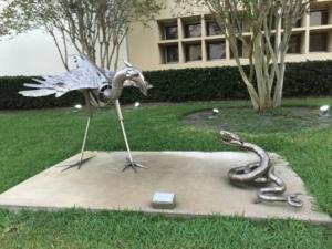 Sculptures near City Hall
