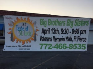 Taste of St. Lucie sign