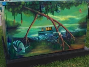 Painted electric box