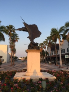 Sailfish monument near marina