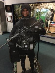 Denise in SEAL gear