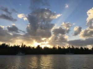 Sunset over Fritz Island