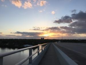 Sunrise from the bridge