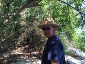 Making our way thru mangroves