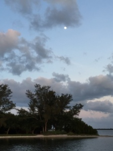 Moon rising over Serenity Island