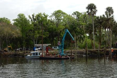 New dock construction at Palm Valley