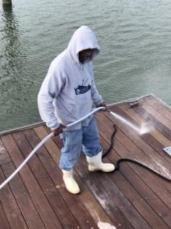 Roy - works hard at marina