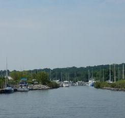 Entering Herrington Harbor South