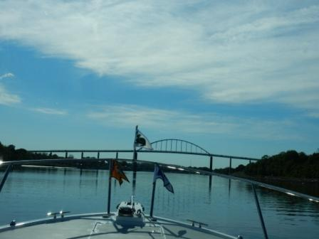 Approaching bridge near Chesapeake City