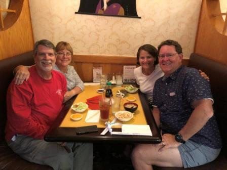 Asahi sushi dinner with Cathy & John