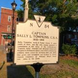 HIstoric marker in Mathews