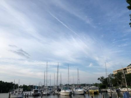 Clouds over Back Creek and Watergate Marina