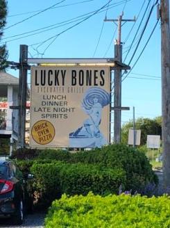 Lucky Bones signage