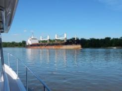 Ship passing near Shady Harbor