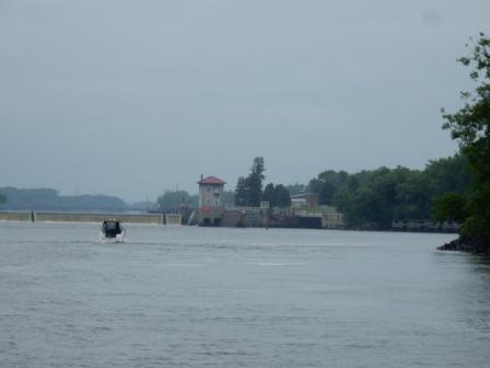 Approaching Troy Lock & Dam