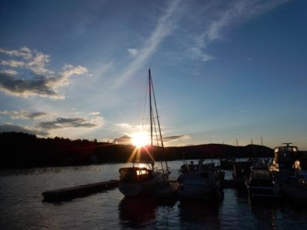 Sunset over Chipman Point Marina