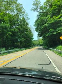 Road trip in rental car