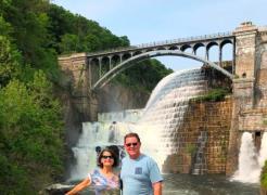 At New Croton Dam and Falls