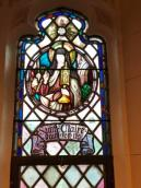 St. Claire window at Holy Name of Mary